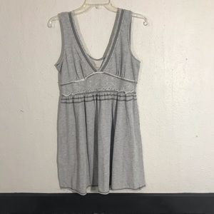 Free People V-Neck Cotton Knit Casual A-Line Dress